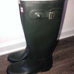 Forest Green Hunter Rain Boots NEVER WORN